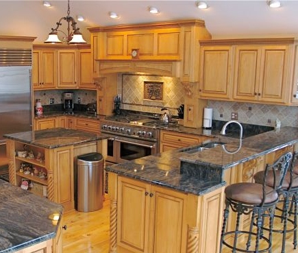 Countertops and backsplash perfect image of kitchen for 1 inch granite countertops