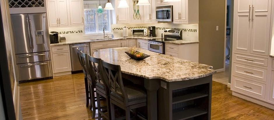 Bianco Antico Granite & Showplace Cabinets