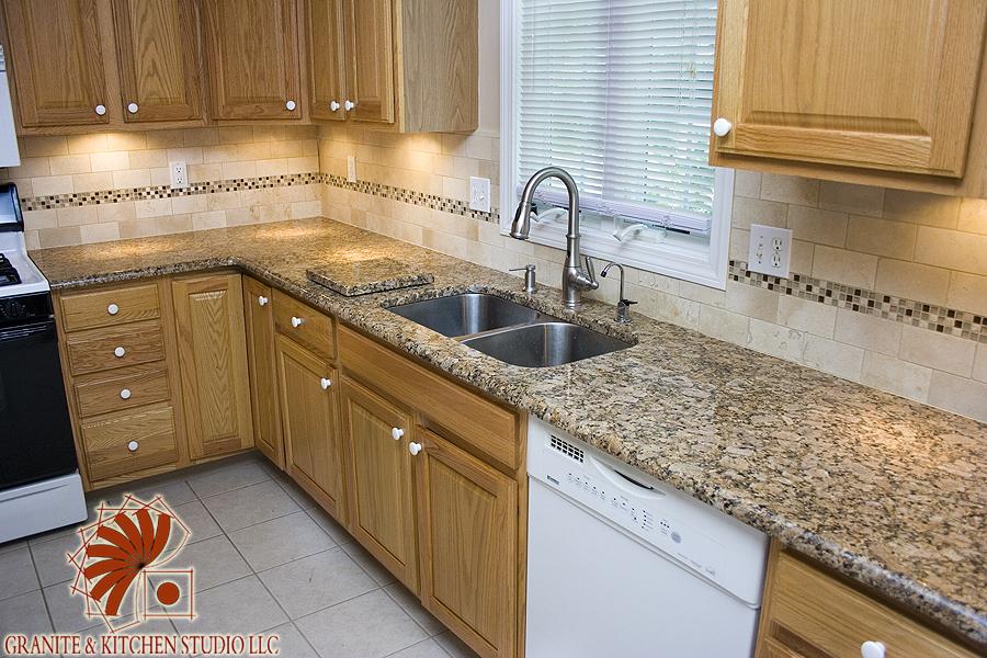 tile and glass granite kitchen studio