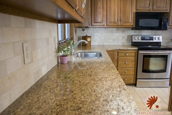 Giallo Ornamental Granite Kitchen Studio The Best Kitchen Countertops By Bobby Berk Design