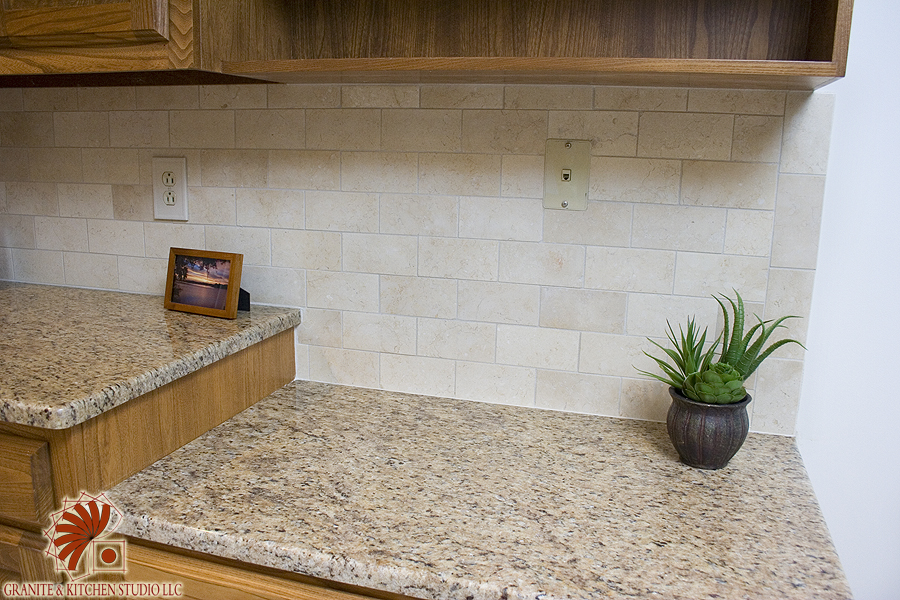 crema marfil tile granite kitchen studio