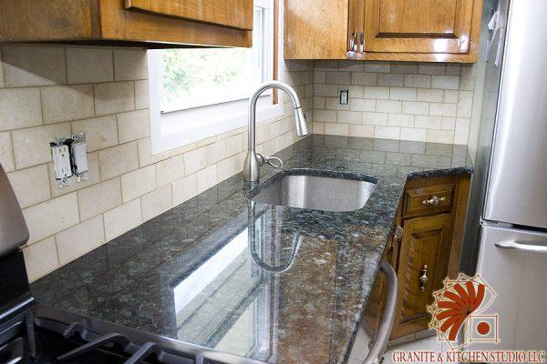 subway tile granite kitchen studio