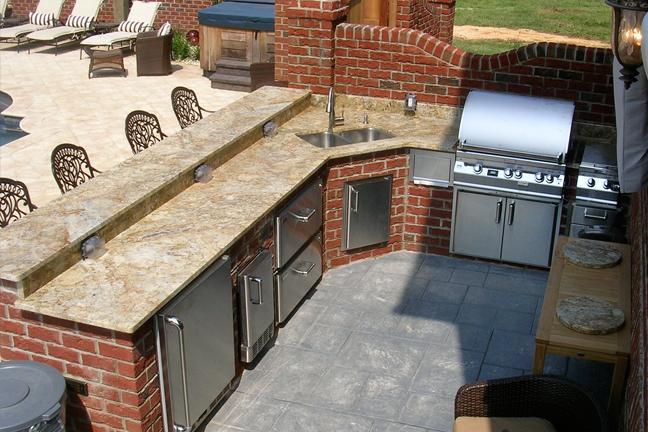 Outdoor Barbeque Area Granite Amp Kitchen Studio